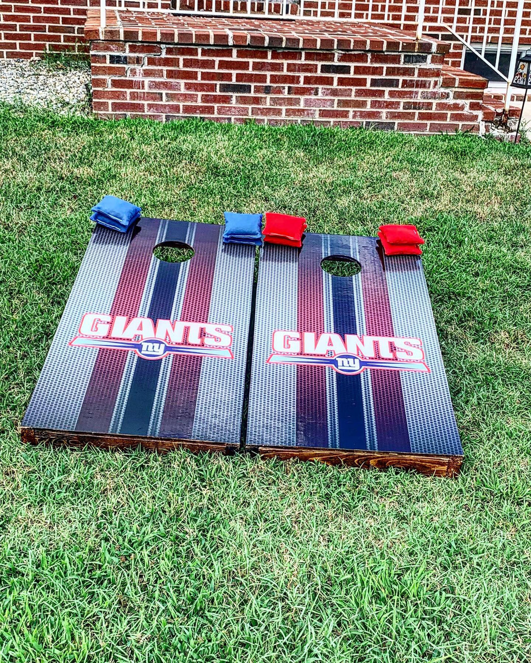 New York Giants Cornhole Boards