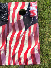 Load image into Gallery viewer, Waving American Flag Cornhole Boards