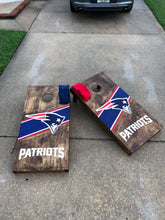 Load image into Gallery viewer, New England Patriots Cornhole Boards