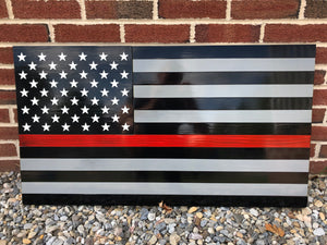 Steel Series Thin Line American Flag for Police/Fire/EMS