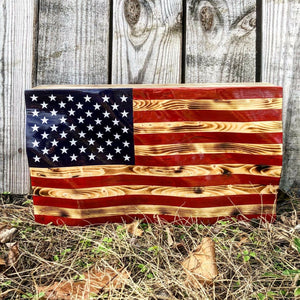Waving American Flag Concealment Box