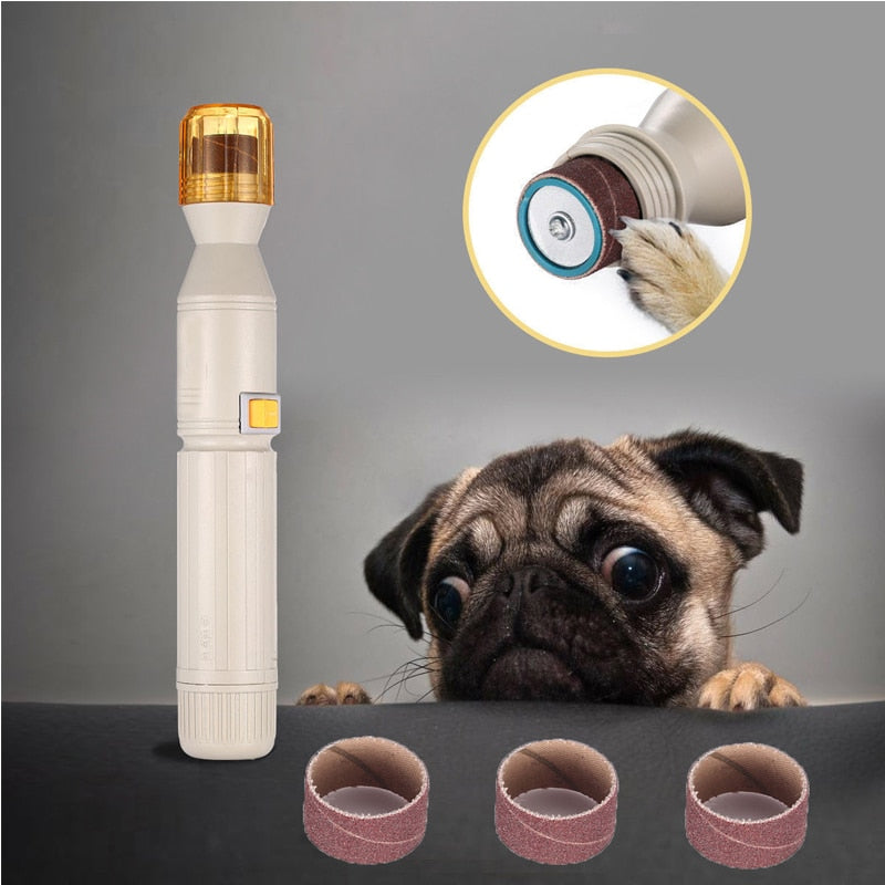 Electronic Portable Dog Manicure Nail Trimmers Pupoutlet