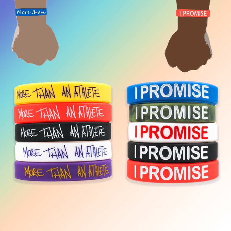 """I PROMISE' & ""MORE THAN AN ATHLETE"" Wristbands"