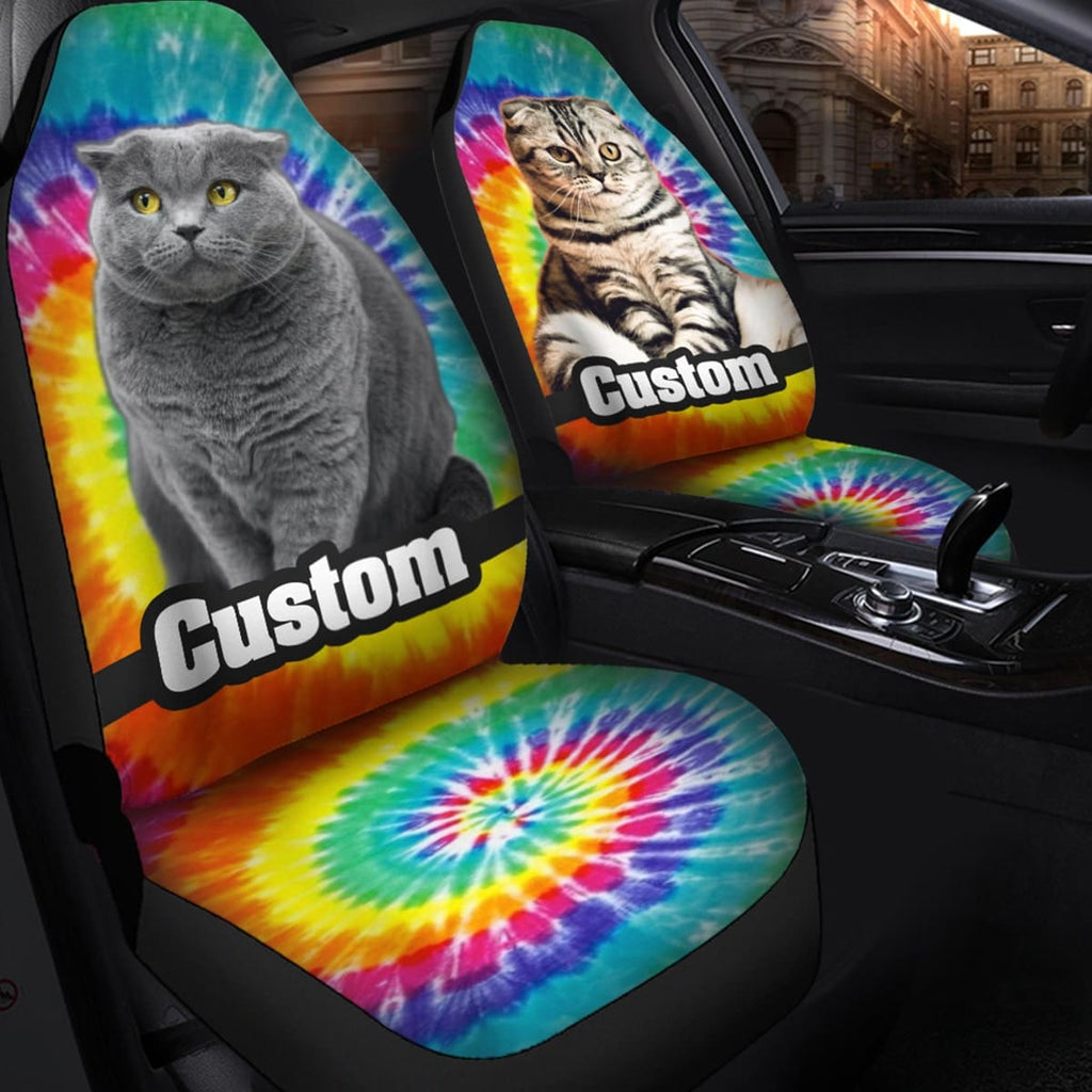 Custom Cat Face Car Seat Cover - Perfect Gifts for the Cat Lover in Your Life - ASDF Print