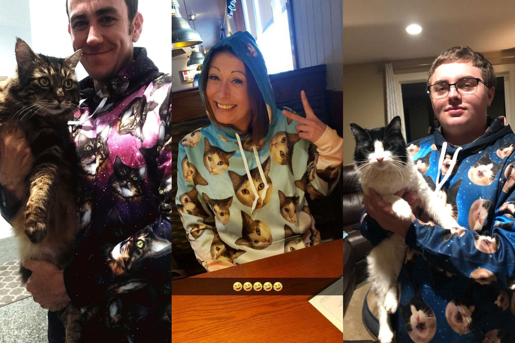 Custom Cat Face Hoodie - Perfect Gifts for the Cat Lover in Your Life - ASDF Print
