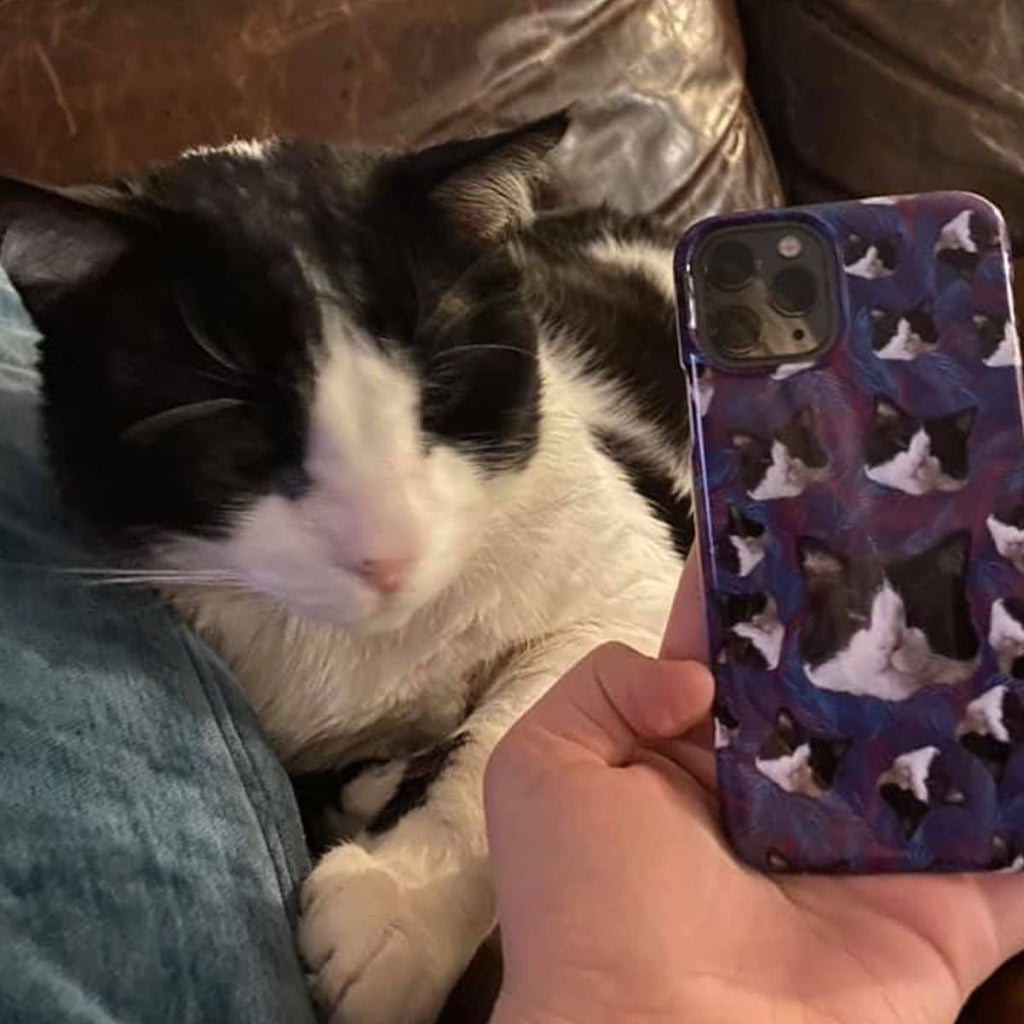 Custom Cat Face Snap Phone Case - Perfect Gifts for the Cat Lover in Your Life - ASDF Print
