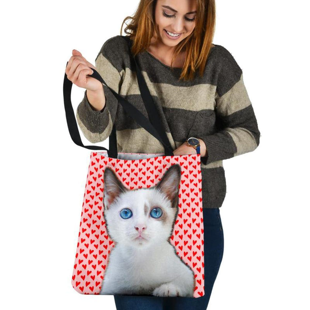 Custom Cat Face Tote Bag - Perfect Gifts for the Cat Lover in Your Life - ASDF Print