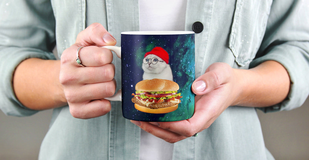 Personalized Funny Photo Mug Cup - Upload Your Own Photos - ASDF Print - Real Image