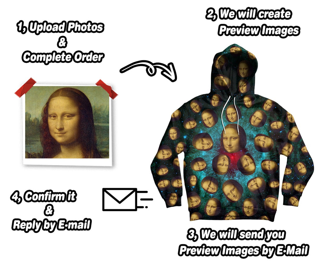 Custom Face Printed Galaxy Hoodie   Upload Your Pictures   ASDF Print