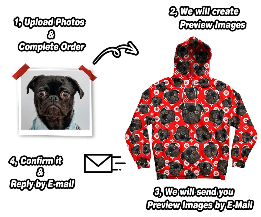 Best Custom Face Photo Hoodies | Upload Your Pictures | ASDF Print
