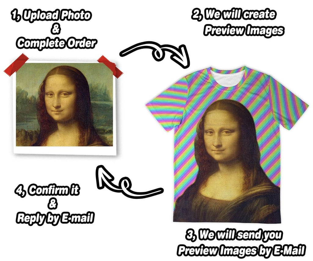 Personalized Photo T-Shirt - All Over Print Face T-Shirt - ASDF Print