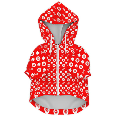 Zip-Up Dog Hoodie - Dogreme | Custom-Made Products | ASDF PRINT