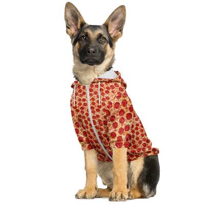 Zip-Up Dog Hoodie - Pizza | Custom-Made Products | ASDF PRINT