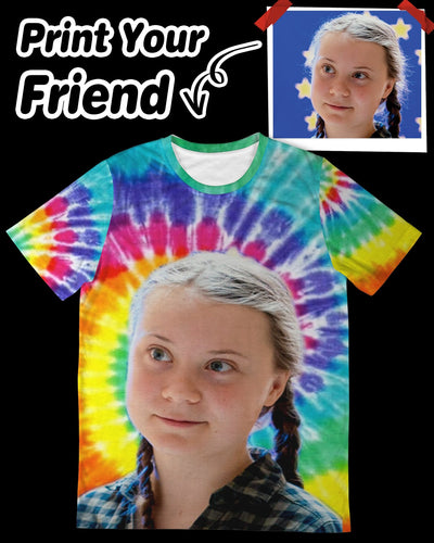 Personalized Big Face Unisex All Over T-Shirt | Custom-Made Products | ASDF PRINT