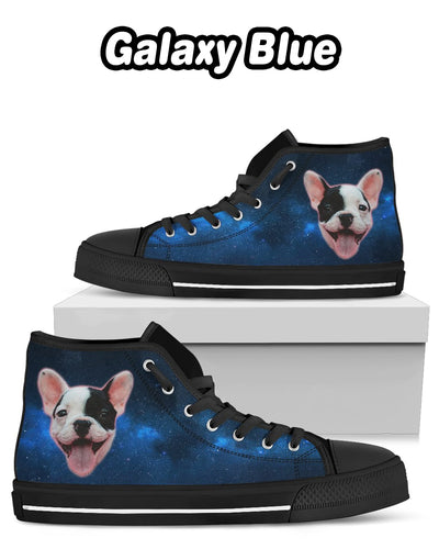 Personalized High Top Canvas Shoes - One Face