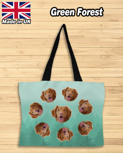 Personalized Many Face Premium Canvas Shopping Bag | Custom-Made Products | ASDF PRINT