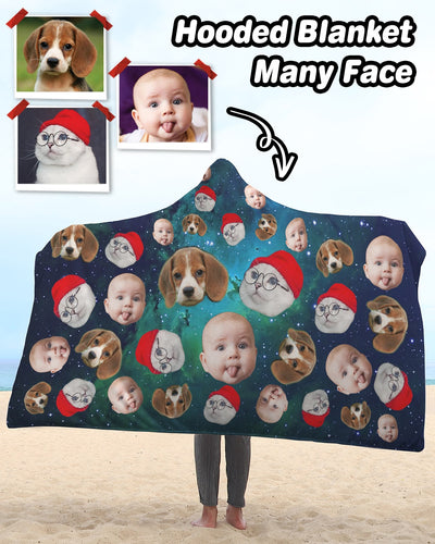 Personalized Many Face Sherpa Hooded Blanket | Custom-Made Products | ASDF PRINT