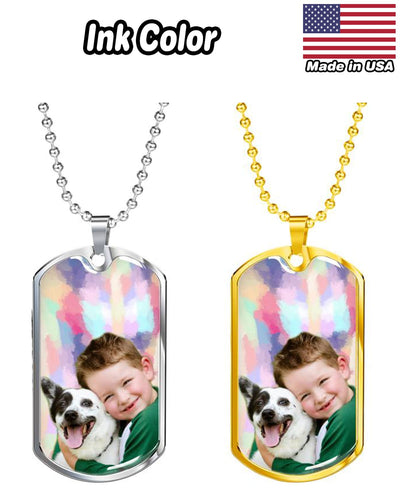 Personalized Luxury Dog Tag - Military Ball Chain | Custom-Made Products | ASDF PRINT