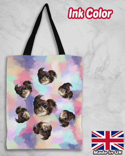 Personalized Many Face Premium Canvas Tote Bag - ASDF Print