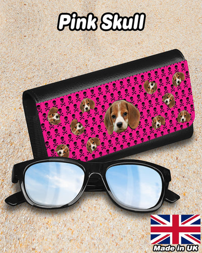 Personalized Many Face Sunglasses Case - ASDF Print