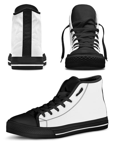 Personalized High Top Canvas Shoes - One Face | Custom-Made Products | ASDF PRINT