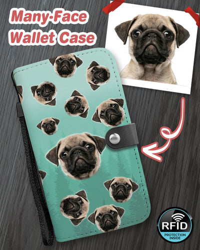 Personalized Many-Face Wallet Phone Case - ASDF Print