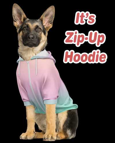 Personalized Zip-Up Dog Hoodie | Custom-Made Products | ASDF PRINT