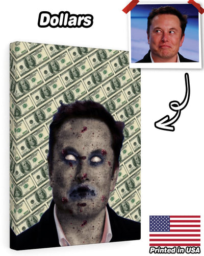 Personalized Canvas Gallery Wraps - Zombie Face | Custom-Made Products | ASDF PRINT