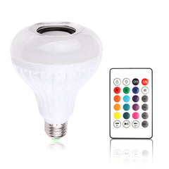 Wireless Bluetooth Music Bulb Light Loudspeaker Intelligent E27 Bulb 12w LED Speaker Color-changing for Home Stage By Samrtphone