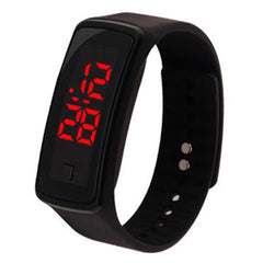Led Watch Led Sport Watch Sporty Children Gift Led Digital Watch Clasp Digital Display Bracelet Men Women