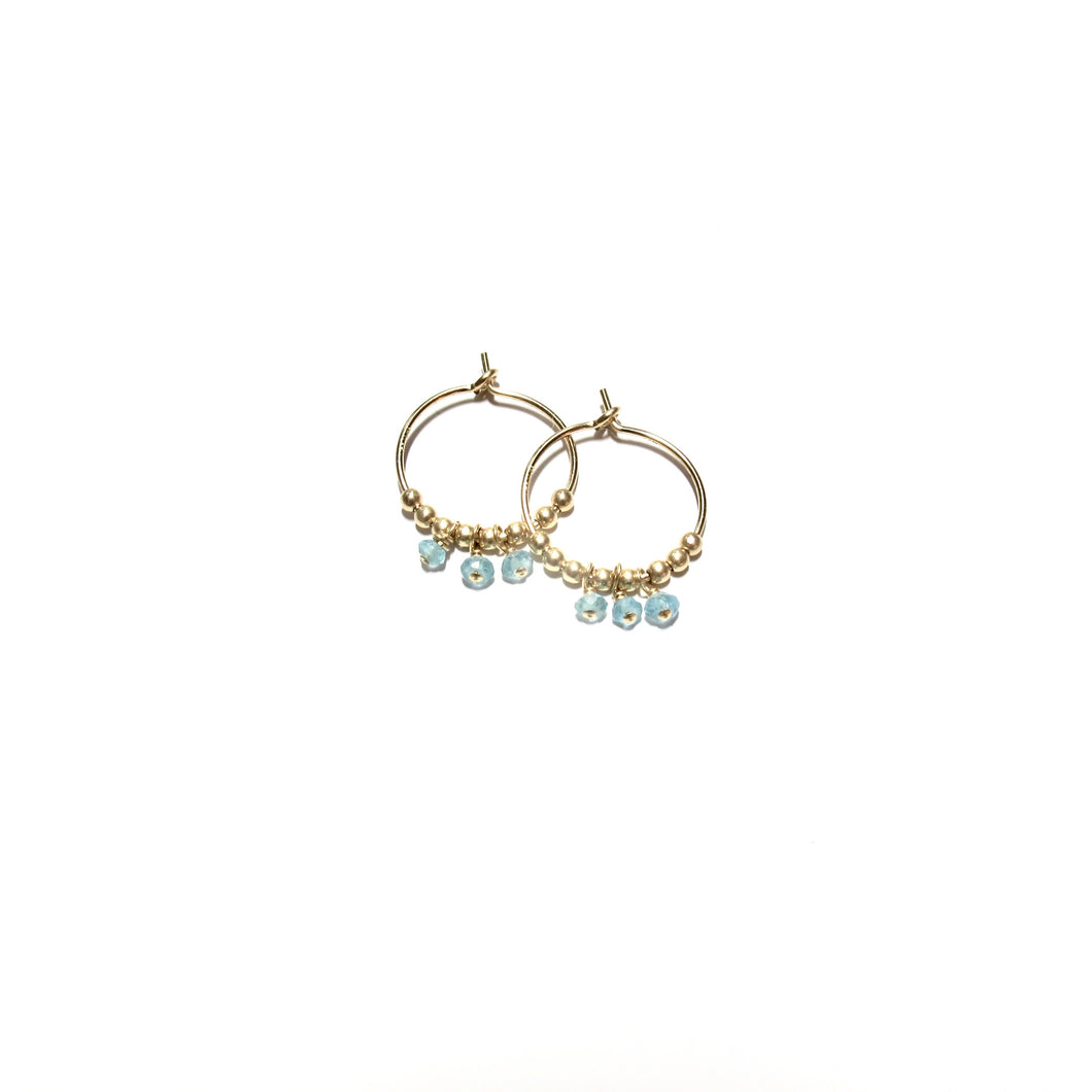 multi apatite small hoops
