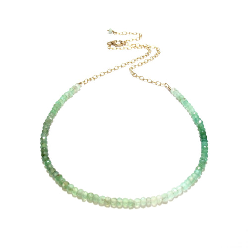 chrysoprase gemstones necklace