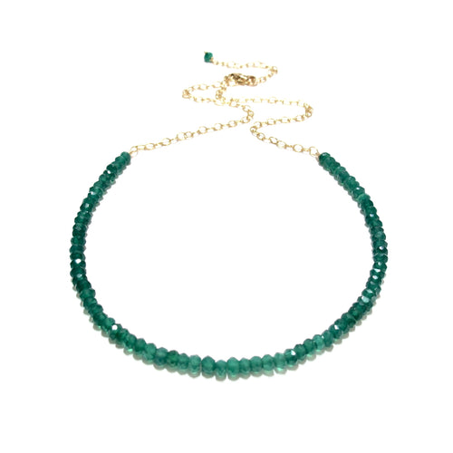 green onyx gemstones necklace