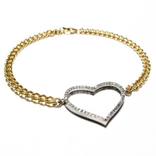 Load image into Gallery viewer, pave diamond heart bracelet