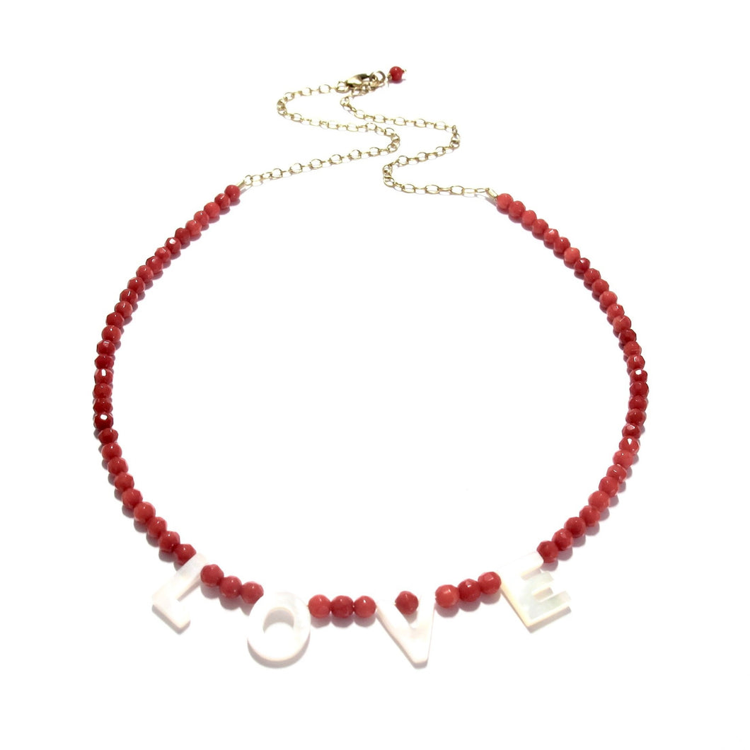 love necklace red sea bamboo coral