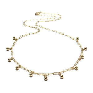 multi gold beads necklace