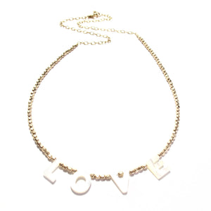 love necklace gold beads