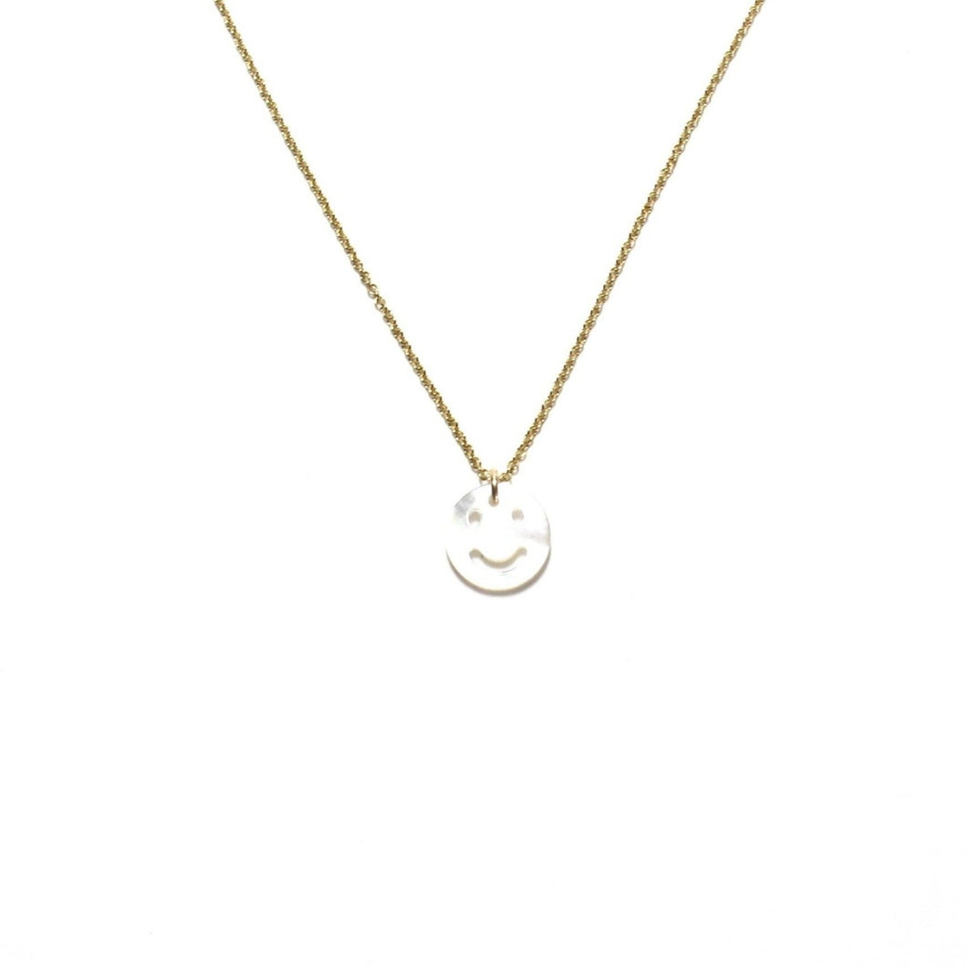mother of pearl smiley necklace (choice of chains)
