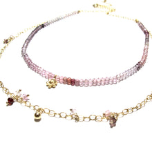 Load image into Gallery viewer, shaded spinel double necklace