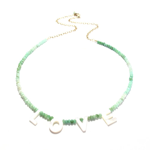 love necklace chrysoprase