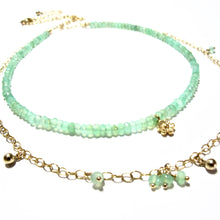 Load image into Gallery viewer, chrysoprase double necklace