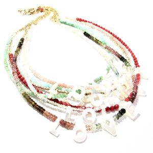 love necklace tourmaline