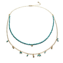 Load image into Gallery viewer, tiny amazonite beads double necklace