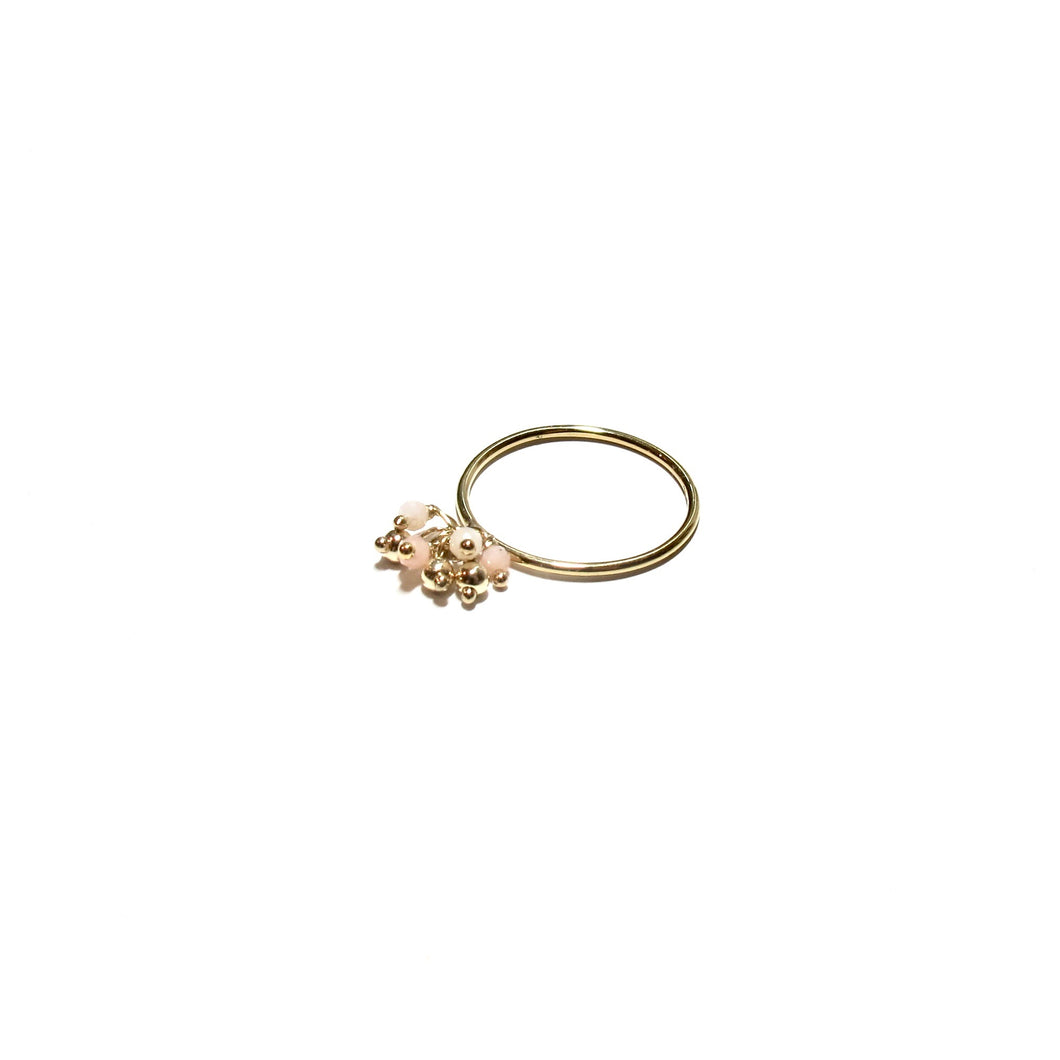 pale pink cluster ring