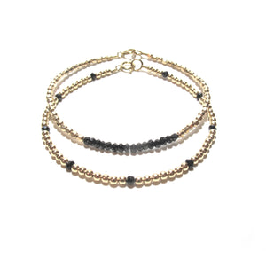 dotted black spinel bracelet