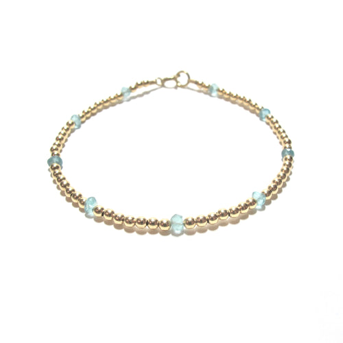 dotted apatite bracelet