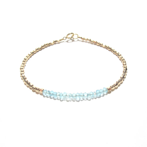 apatite line and gold beads bracelet