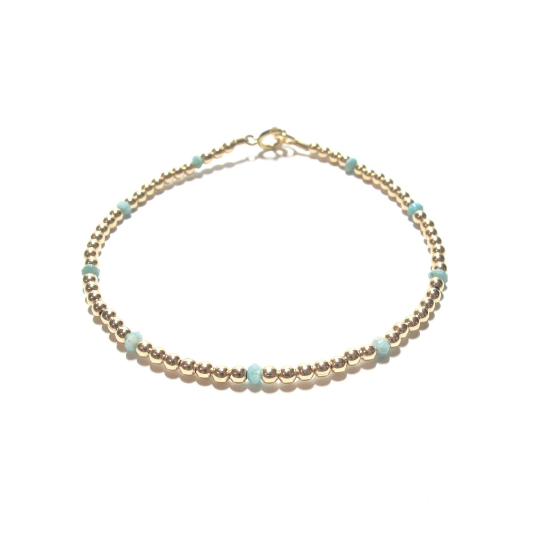 dotted amazonite bracelet