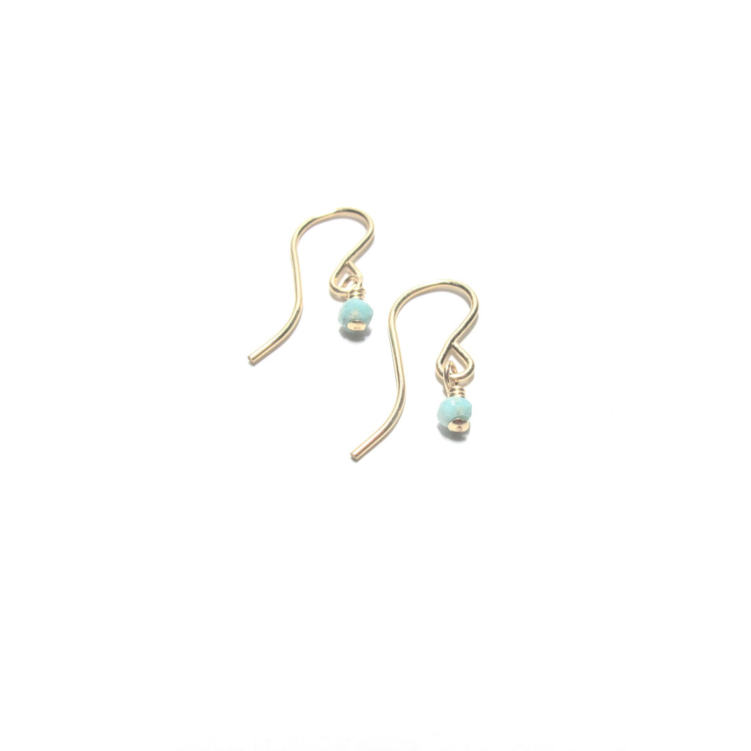 hook earrings with amazonite