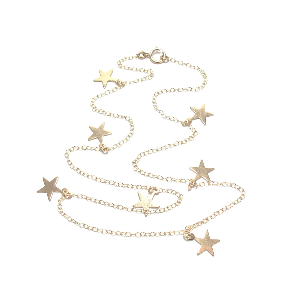 multi stars necklace